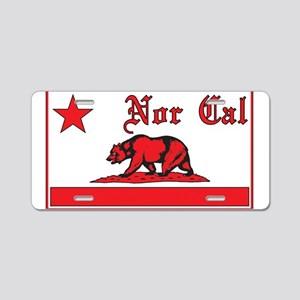 nor cal bear red Aluminum License Plate