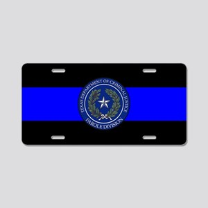TDCJ Thin Blue Line Aluminum License Plate