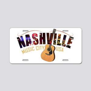 Nashville TN Music City USA Aluminum License Plate