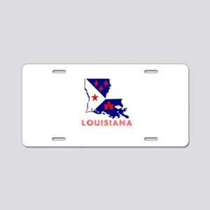 Louisiana Acadiana Red Blue Aluminum License Plate