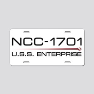 USS Enterprise 2009 Dark Aluminum License Plate