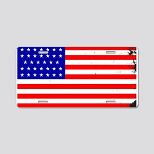 Civil War Union Flag Aluminum License Plate