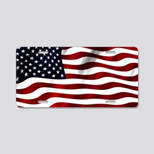 American Flag USA Aluminum License Plate
