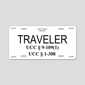Exempt Traveler Aluminum License Plate