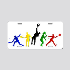 Tennis Players Aluminum License Plate