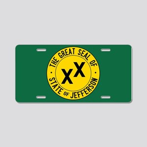State of Jefferson Flag Aluminum License Plate
