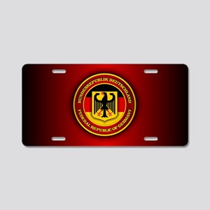 German Emblem Aluminum License Plate