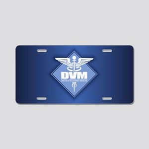 DVM (b)(diamond) Aluminum License Plate