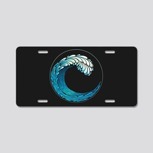 Ocean Wave Aluminum License Plate