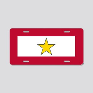 Gold Star Flag Aluminum License Plate