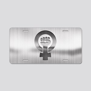 Feminist Fist Metal Aluminum License Plate