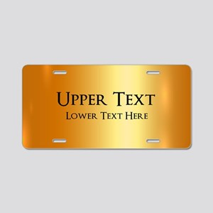 Custom Gold Aluminum License Plate