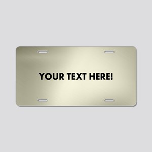 Custom Platina Aluminum License Plate