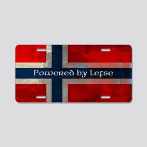 Grunge Norwegian Flag Aluminum License Plate