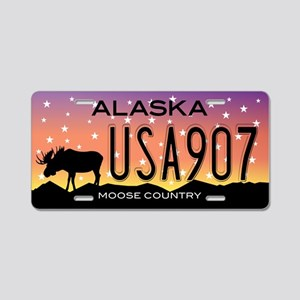 AK Moose Aluminum License Plate