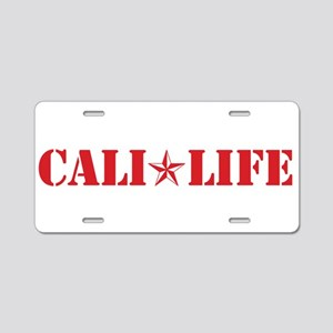 cali life 1b red Aluminum License Plate