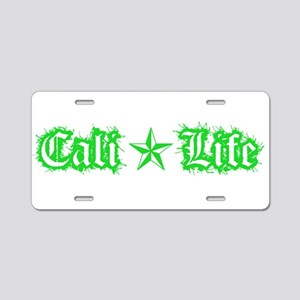 cali life 1a green Aluminum License Plate