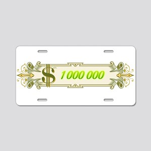 1 000 000 Dollars 4 Aluminum License Plate