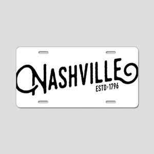 Nashville Tennessee Aluminum License Plate