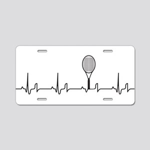 Tennis Heartbeat Aluminum License Plate