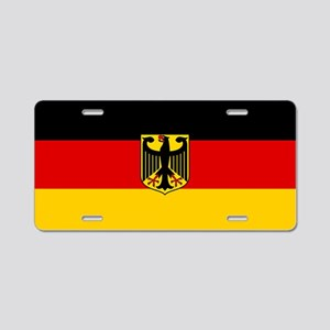 Flag: German & Coat of Arms Aluminum License Plate