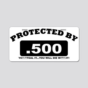 property of protected by 500 b Aluminum License Pl