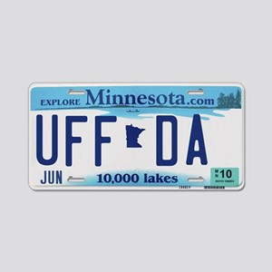 "Minnesota ""Uffda"" Aluminum License Plate"