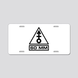 60mm Warning (B) Aluminum License Plate