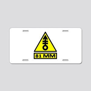 81mm warning Aluminum License Plate