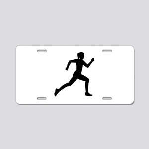 Running woman girl Aluminum License Plate