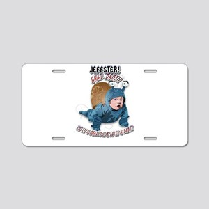 Jeffster Snail baby Aluminum License Plate