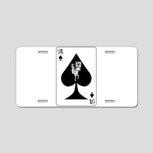 Ace of Spades Aluminum License Plate