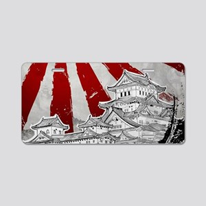 Japanese Palace and Sun Aluminum License Plate