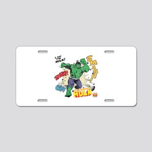 Hulk Smash Aluminum License Plate