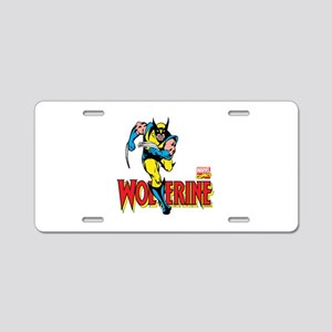 Wolverine Running Aluminum License Plate