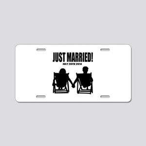 Just Married | Personalized wedding Aluminum Licen