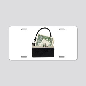 PurseBigBucks053009 Aluminum License Plate