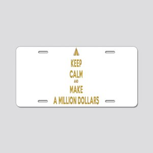 Make Millions Aluminum License Plate