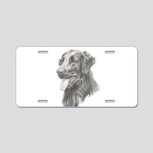 Flat Coated Retriever Aluminum License Plate