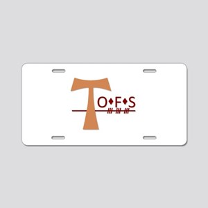 OFS Secular Franciscan Orde Aluminum License Plate