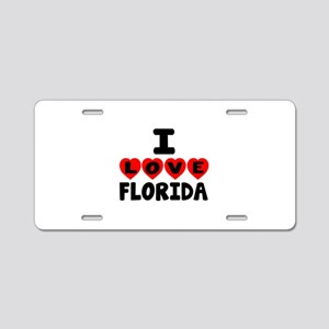 I Love Florida Aluminum License Plate