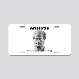 Aristotle Thought Aluminum License Plate