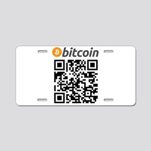 Bitcoin QR Code Aluminum License Plate