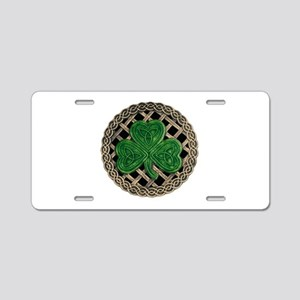 Shamrock And Celtic Knots Aluminum License Plate