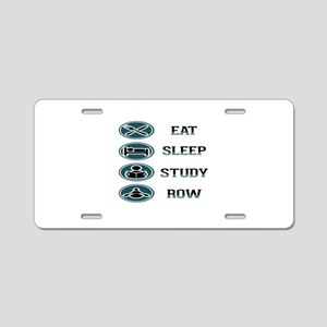 Eat Sleep Study Row Aluminum License Plate