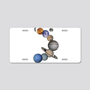 Planet Swirl Aluminum License Plate