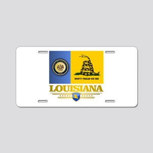 Louisiana Gadsden Flag Aluminum License Plate