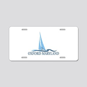 Oxford MD - Sailboat Design. Aluminum License Plat
