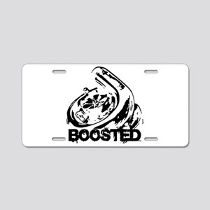 Boosted Aluminum License Plate