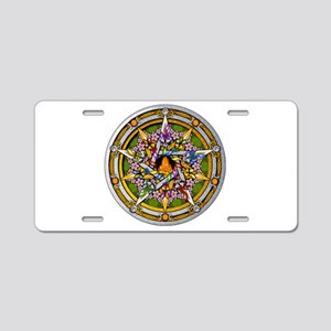 Beltane Pentacle Aluminum License Plate